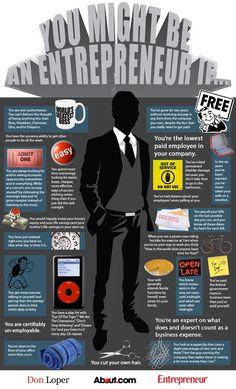 You might be an entrepreneur if... http://www.IAMJayzen.com