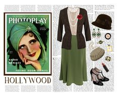 Exquisite in Emerald by vintagevelyn17 on Polyvore featuring polyvore мода style Precis Petite Valentino Eastex Dune La Regale Amrita Singh Chanel Marie Hélène de Taillac Mastoloni Forever 21 Stila Serge Lutens fashion clothing lace vintage jewelry vintage inspired retro head wraps famous golden globes red lipstick vintage feminine old hollywood statement scarves girly antique emmys actress high waisted skirts 20s green glamour 1920s jewel tones photoplay emerald 1930s magazine 30s…