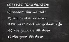 (NL) Nuttige Team Vragen
