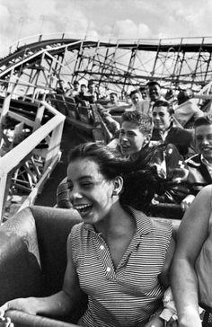 Harold Feinstein     On the Cyclone, Coney Island, Brooklyn, New York     1953