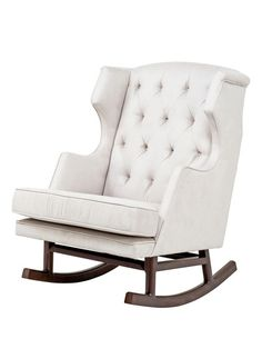 The perfect rocker to hold it's own against the strong design of the crib: Empire Rocker by Nursery Works