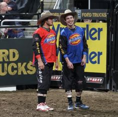 Shorty & Jessy bull fighters of the PBR - these guys risk their lives for the riders!