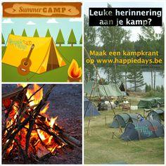 Leuke herinnering aan je kamp is een kampverslag in een krant