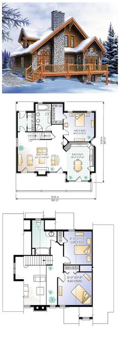 COOL House Plan ID: chp-10483 | Total living area: 1625 sq ft, 3 bedrooms & 2 bathrooms. #cabinplan