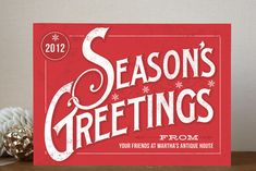 Classic Greetings Business Holiday Cards by GeekInk Design available through Orpheus Photography