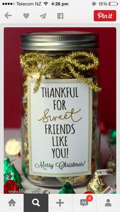 Jars - Thankful for Sweet Friends like You!