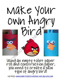 Angry Bird Creative Writing Activity--includes planning and creating an angry bird, sequencing the steps, and description.  My students will love this.