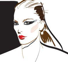 Эскиз в Illustrator. Модное лицо