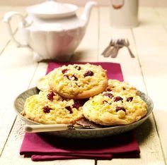 Apfel-Streusel-Taler (mit Quark-Pudding Kreme)