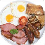 From the International Assorted Breakfast Recipe Collection. This recipe presents one of many ways that people enjoy a Full English Breakfast.  Leave a comment on this page to say how you like yours prepared.