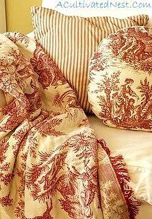 toile blanket - I must make one!