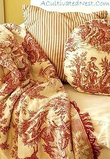 toile blanket - I must make one!