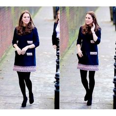The Duchess of Cambridge arriving at Barbly Primary School in London to name The Clore Art Room | 15.01.2015.  Love her dress ❤  #katemiddleton #duchessofcambridge #2ndpregnancy