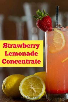 Strawberry Lemonade Concentrate
