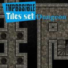 Impossible Tiles Set: Dungeon | Tile-able dungeon set for all possible combinations. Remember: rotate, reflect, assemble all pieces with your imagination.  https://marketplace.roll20.net/browse/set/842/impossible-tiles-set-dungeon