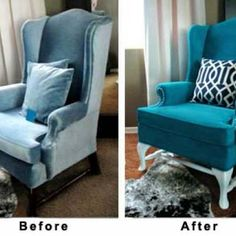 Painted Upholstery Tutorial {Fabric Paint}  Such a cool idea!!!
