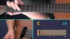 Lean On Me - A Guitar Lesson with virtual fretboard and TAB.
