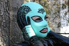 Murky Lace Latex Hood by MissKinkyLatex on Etsy
