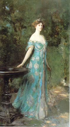 John Singer Sargent's Millicent, Duchess of Sutherland. This is my favorite painting in the Thyssen-Bornemisza.