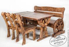 """Купить """"Ямщик"""" - авторская мебель в этно-стиле из сосны с доставкой. - артель русичи, мебель из дерева"""