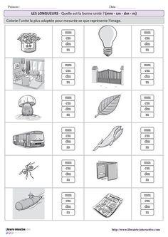 10 fiches simples pour s'entraîner à estimer une longueur en choisissant l'unité la plus adaptée avec plusieurs niveaux de difficulté (CE2 au CM2). Math 5, 1st Grade Math, Math Games, Capacity Worksheets, Cycle 3, Math Projects, Math Help, Math For Kids, Too Cool For School