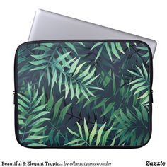 Choose from a variety of Elegant laptop sleeves or make your own! Shop now for custom laptop sleeves & more! Custom Laptop, Summer Gifts, Best Laptops, Best Sites, Tropical Leaves, Personalized Products, Summer Of Love, Laptop Sleeves, Your Photos