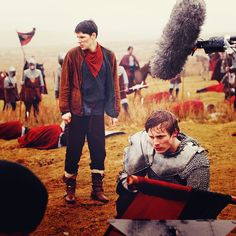 Merlin Cast - Merlin (Colin Morgan) and Arthur Pendragon (Bradley James)