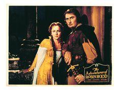 The Adventures of Robin Hood, Olivia De Havilland, Errol Flynn, 1938 Premium Poster