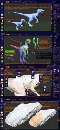 Lion-Arts presents: Make a Jurassic Park inspired Velociraptor in ZBrush Zbrush Tutorial, 3d Tutorial, Zbrush Character, Character Modeling, Sculpting Tutorials, Art Tutorials, Polygon Modeling, Digital Sculpting, 3d Mesh