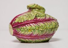 Rare Meissen Covered Box/Small Tureen in the Form of a Cabbage 4