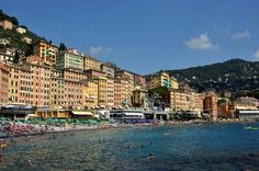 Camogli - One of Many Picturesque Towns in Liguria Italy Genoa, Mediterranean Sea, Cinque Terre, Train Rides, Things To Do, Places To Visit, Italy, Vacation, Travel