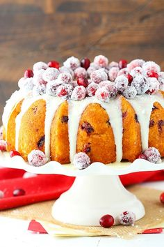 This Sparkling Cranberry White Chocolate Bundt Cake is a moist vanilla cake filled with fresh cranberries! It's topped with white chocolate ganache and sugar-covered sparkling cranberries for a cake that is perfect for the holidays! I hope you had a wonderful Thanksgiving holiday! We spent time with my family and enjoyed all the food. I …