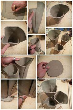 Making of raku pottery Anemone Planter Pot by Federico Becchetti