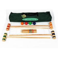 Shop for the perfect croquet set from Garden Games Ireland today. The croquet set in canvas bag includes hoops, balls, mallets, stakes and instructions. This is the perfect croquet set for beginners. Wedding Games, Wedding Venues, Garden Games, Lawn Games, Outdoor Games, Outdoor Entertaining, Bag Storage, Bag Making, Have Fun