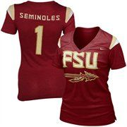 Nike Florida State Seminoles (FSU) Ladies Replica Football Premium T-shirt - Garnet