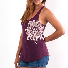 Cranberry Lotus Flower Tank, 18€, now featured on Fab.
