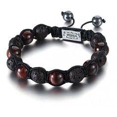 Shimla Red Tigers Eye Bead and Lava Rock Bracelet Size - Regular - SH-038