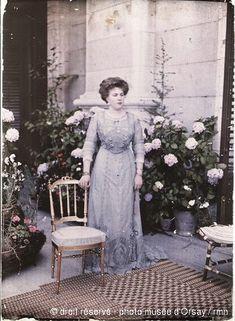 C. Chusseau-Flavian  Victory Eugenia of Battenberg, Queen of Spain  in 1910  autochrome