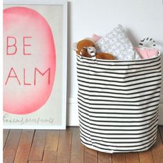 House doctor striped basket - opbergen - storage - toys - kids room - living