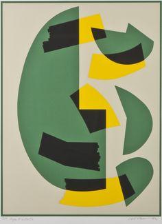 Sam Vanni, 1982, serigrafia, 61x45 cm, edition omistuskirj. - Hagelstam A136