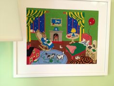 Goodnight moon: three little bears sitting in chairs 30x20 signed ...