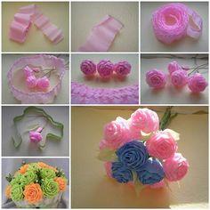 How to Make Unique Crepe Paper Flowers | iCreativeIdeas.com LIKE Us on Facebook ==> https://www.facebook.com/icreativeideas