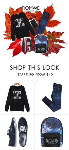 """""""ROMWE 2"""" by sarahguo ❤ liked on Polyvore featuring rag & bone, Vans and Disney"""