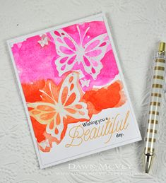Wishing You A Beautiful Day Card by Dawn McVey for Papertrey Ink (May 2014)