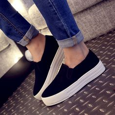 13.48$  Buy here - http://aliqd5.shopchina.info/go.php?t=32660127271 - In the spring of 2016 canvas shoes female large base platform shoes female students in higher shoes leisure small white shoes  #magazineonlinebeautiful