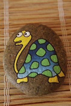 malovaný kámen - želva Turtle: painted rock