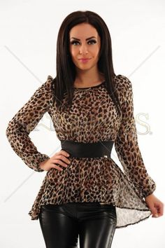 Bluza Fofy Animal Desire Brown