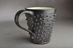 Spiky Mug Made To Order Black and White