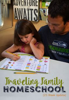 The Clarke family, a full-time RV family of 4, follows a more structured homeschooling plan.