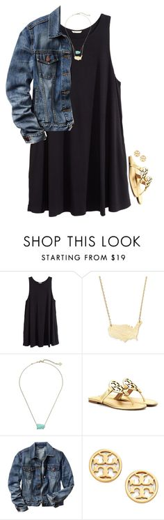 """First meet tmrw"" by meljordrum ❤ liked on Polyvore featuring H&M, Moon and Lola, Kendra Scott, Tory Burch and Gap"